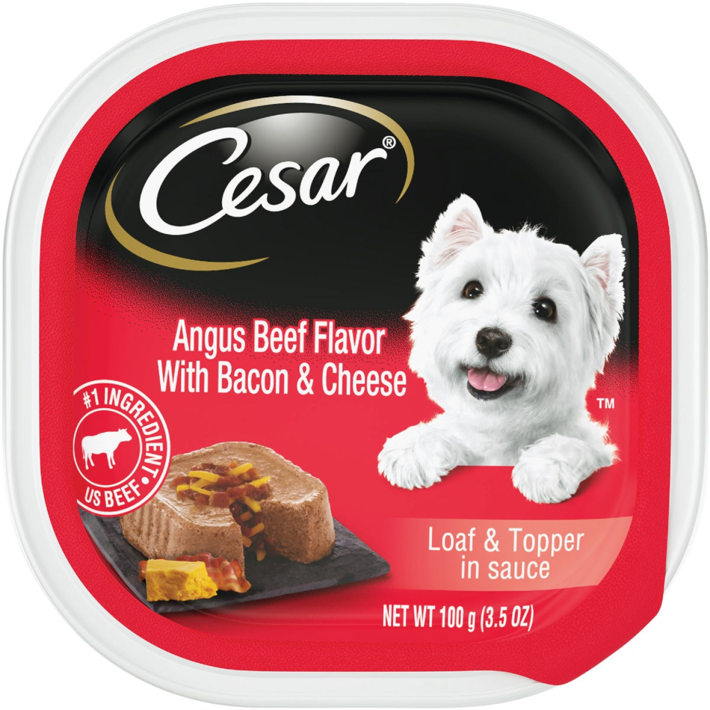 Cesar Loaf & Topper Angus Beef with Bacon & Cheese Adult Wet Dog Food, 3.5 Oz. Image 1
