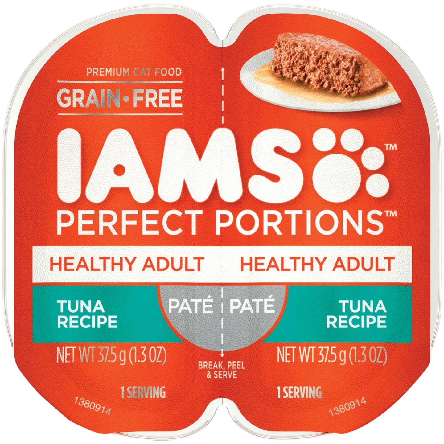 Iams Perfect Portions Healthy Adult 2.6 Oz. Tuna Flavor Adult Wet Cat Food Image 1