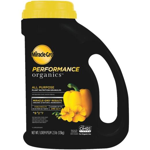 Miracle-Gro Performance Organics 2.5 Lb. 9-2-7 Dry Plant Food
