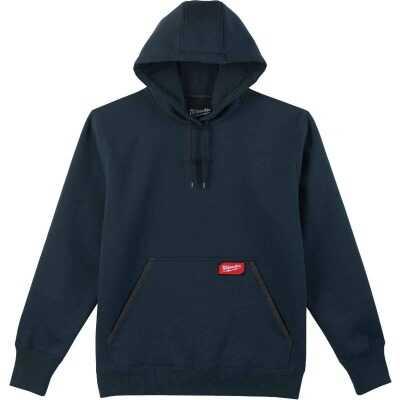 Milwaukee Small Navy Blue Heavy-Duty Pullover Hooded Sweatshirt