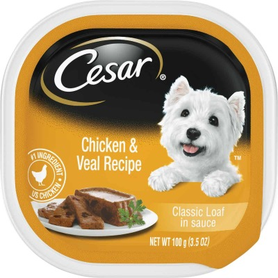 Cesar Classic Loaf Chicken & Veal Adult Wet Dog Food, 3.5 Oz.
