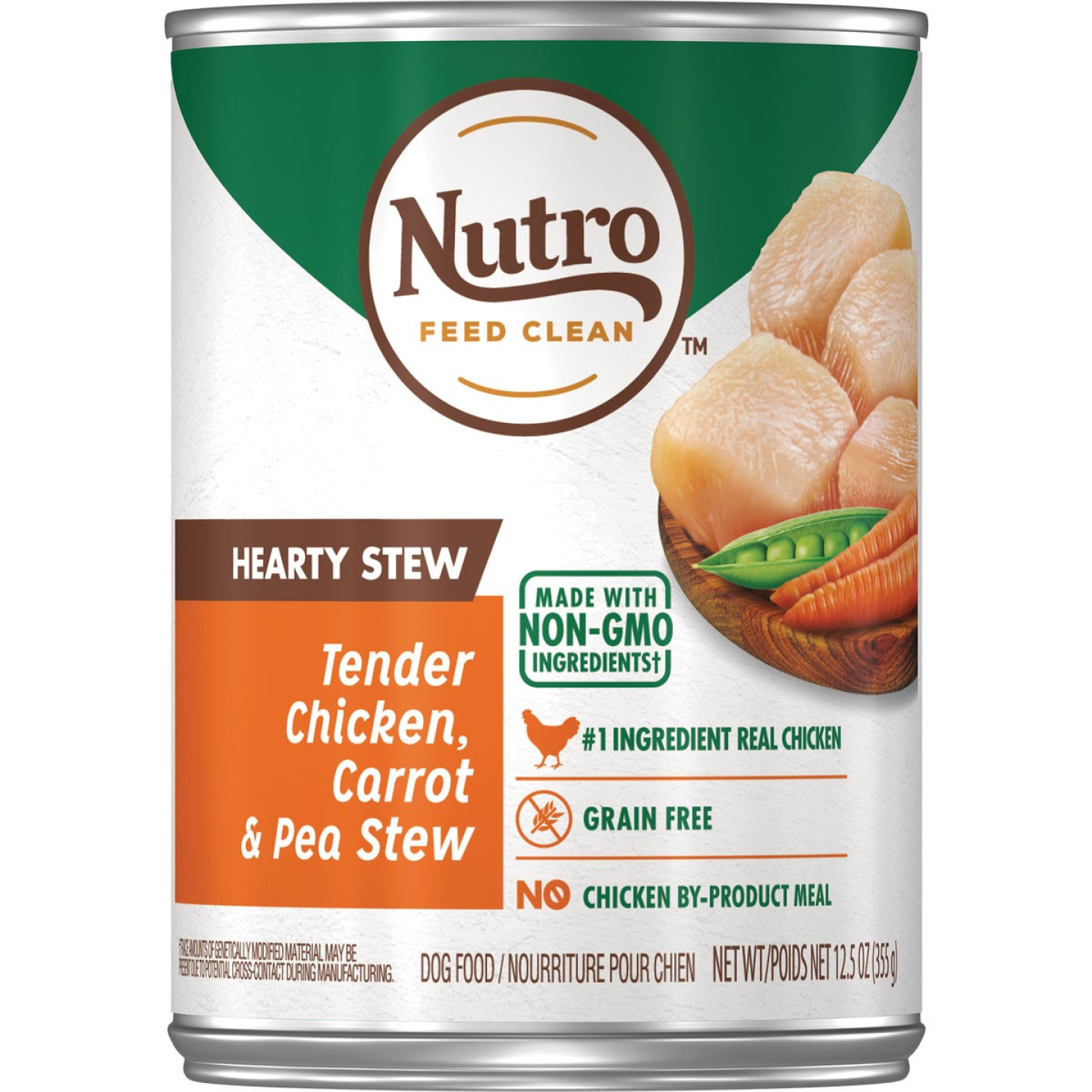 Nutro Grain Free Hearty Stew Tender Chicken, Carrot & Pea Adult Wet Dog Food, 12.5 Oz. Image 1