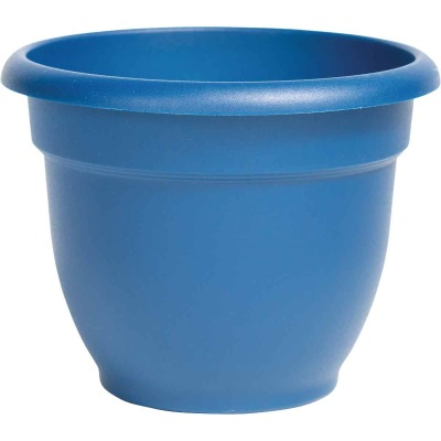 Bloem Ariana 10 In. Plastic Self Watering Classic Blue Planter