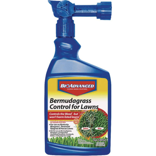 BioAdvanced 32 Oz. Ready To Spray Bermudagrass Control for Lawns Weed Killer