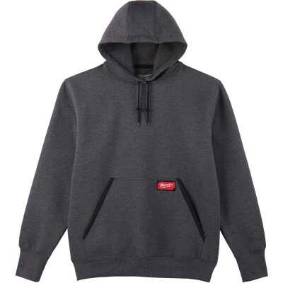 Milwaukee Large Gray Heavy-Duty Pullover Hooded Sweatshirt
