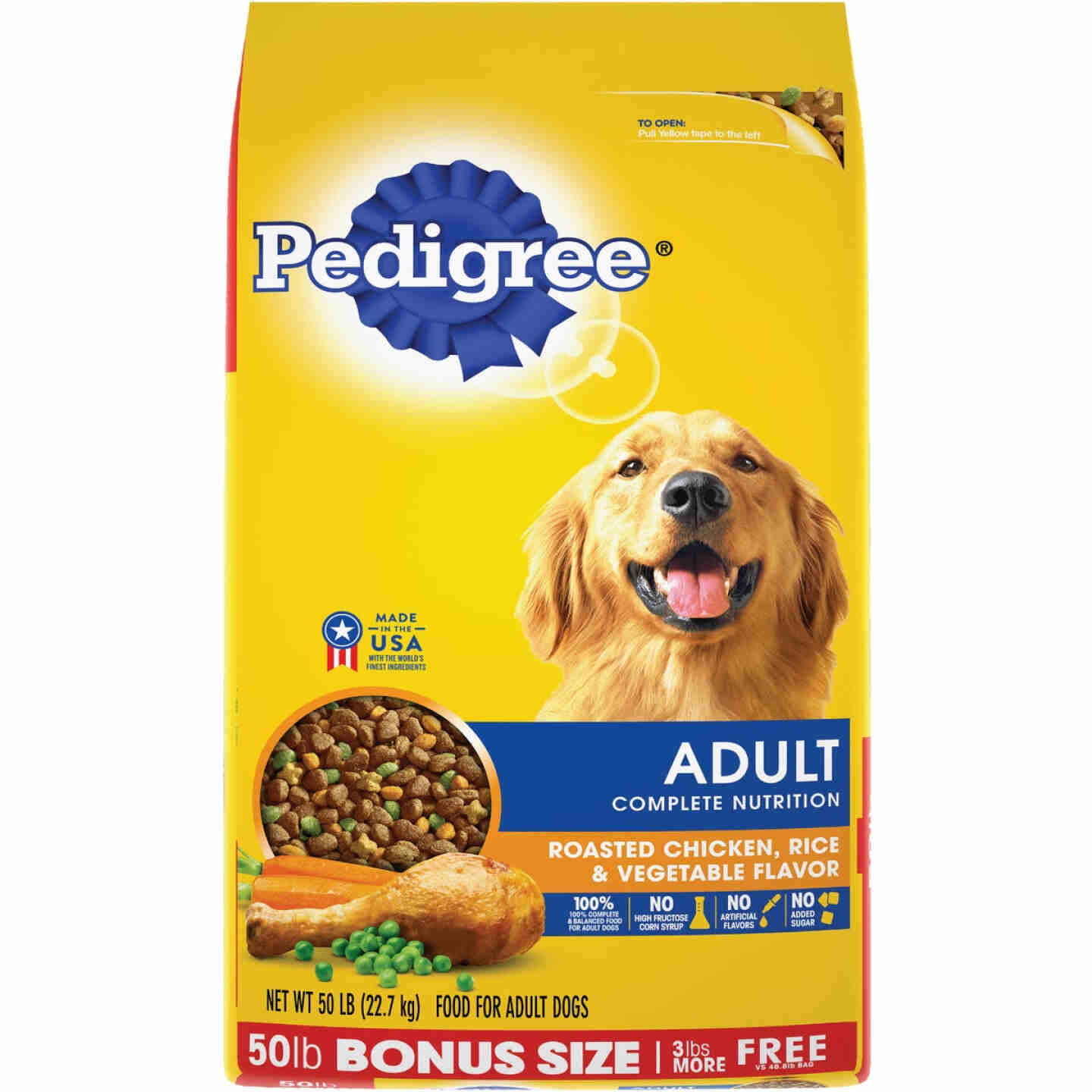 Pedigree Complete Nutrition 50 Lb. Roasted Chicken, Rice, & Vegetable Adult Dry Dog Food Image 1