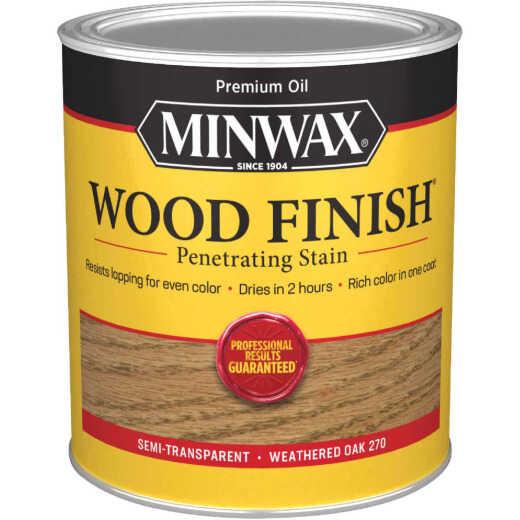 Minwax Wood Finish Penetrating Stain, Weathered Oak, 1 Qt.