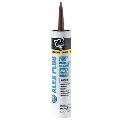 Dap Alex Plus 10.1 Oz. All Purpose Brown Siliconized Acrylic Latex Caulk