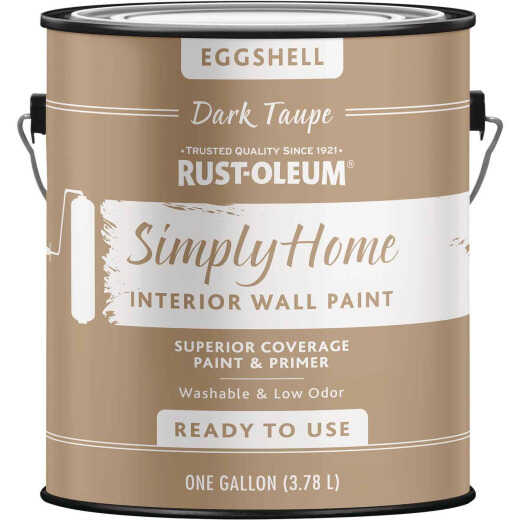 Simply Home Eggshell Dark Taupe Interior Wall Paint, Gallon