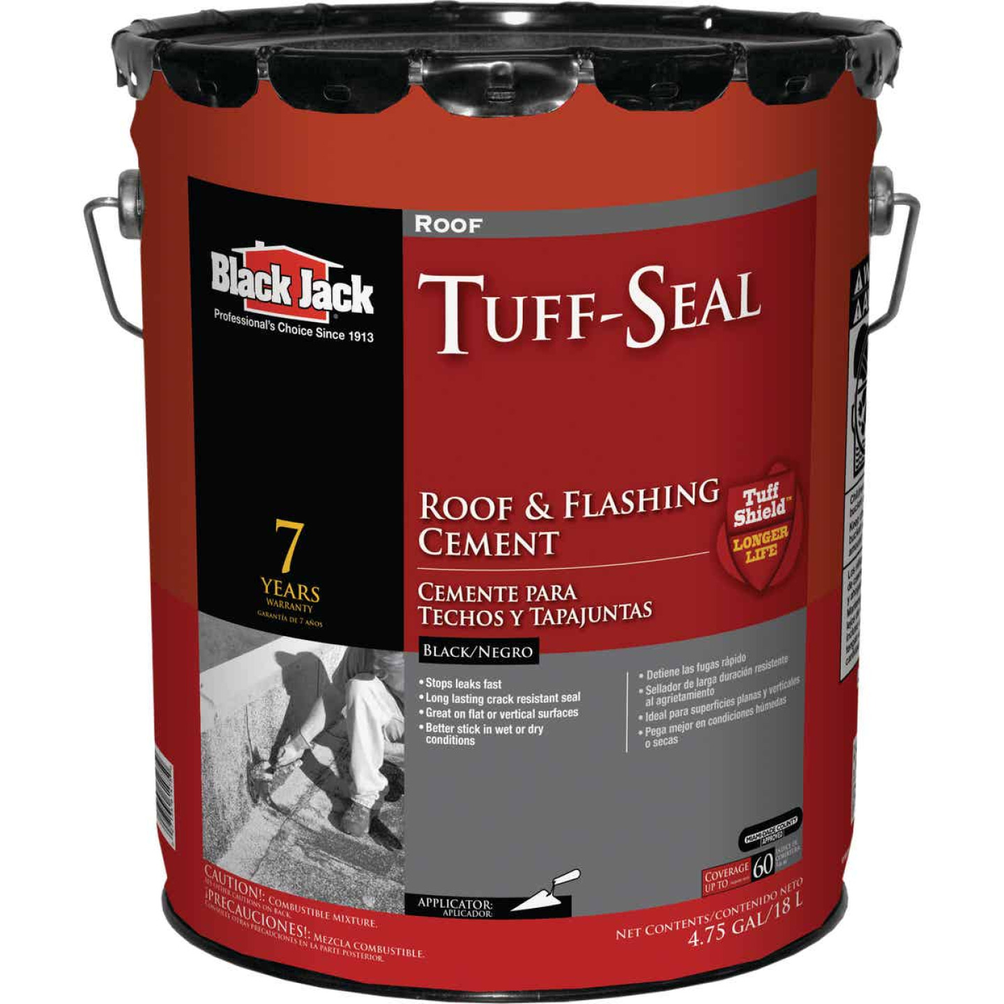 Black Jack Tuff-Seal 5 Gal. Roof Cement & Flashing Sealant Image 1
