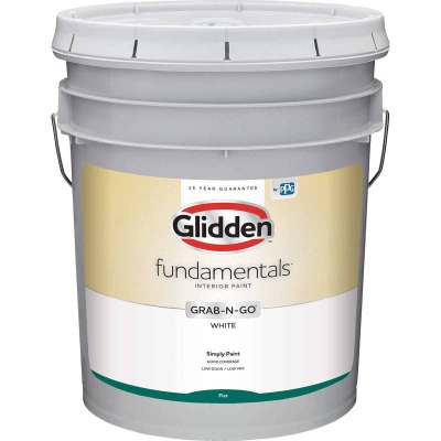 Glidden Fundamentals Grab-N-Go White Flat 5 Gallon