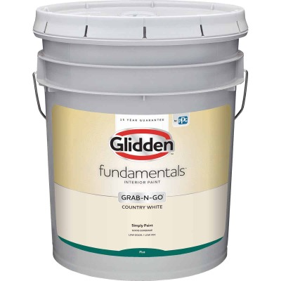 Glidden Fundamentals Grab-N-Go Country White Flat 5 Gallon