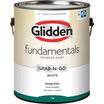 Glidden Fundamentals Grab-N-Go White Flat 1 Gallon