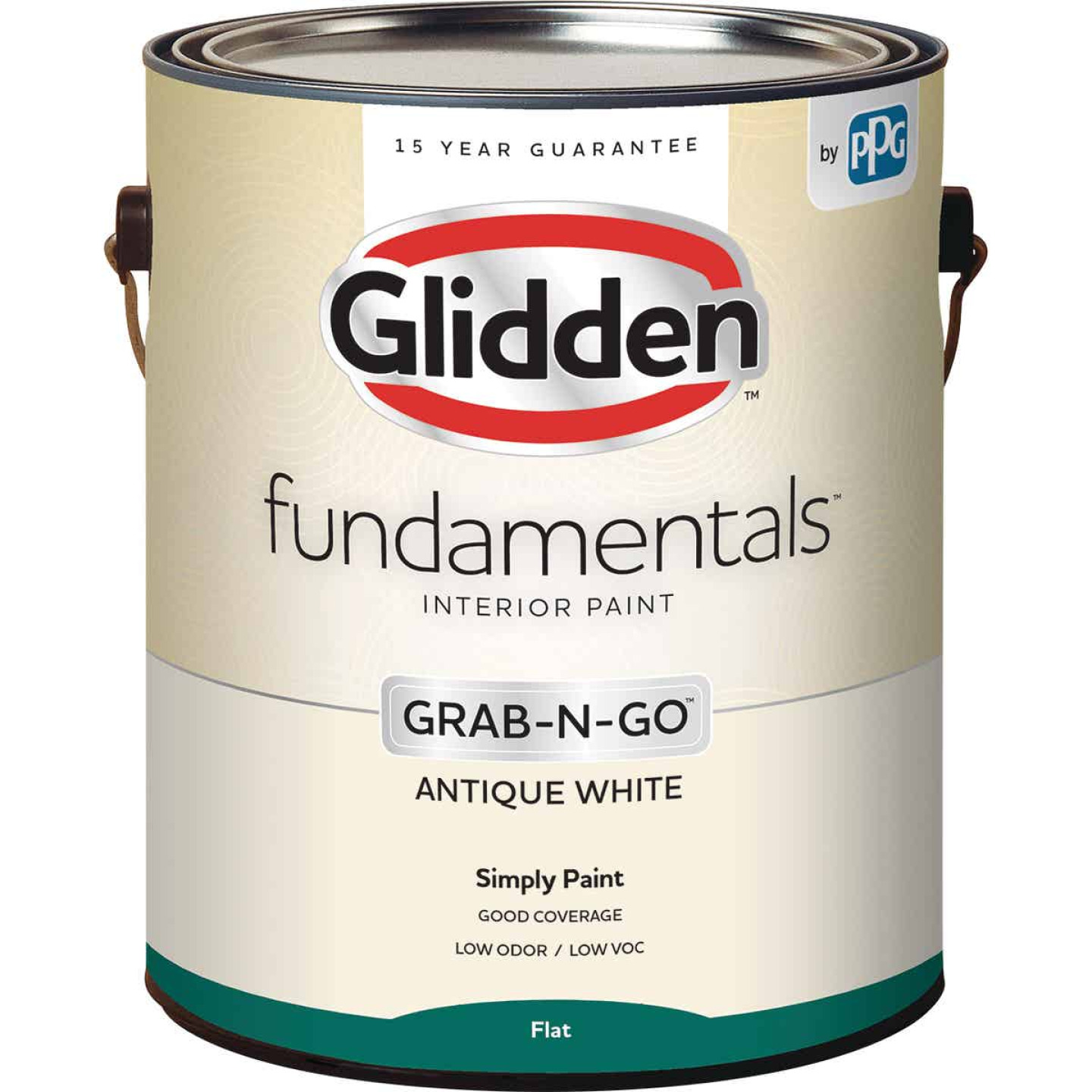 Glidden Fundamentals Grab-N-Go Antique White Flat 1 Gallon Image 1