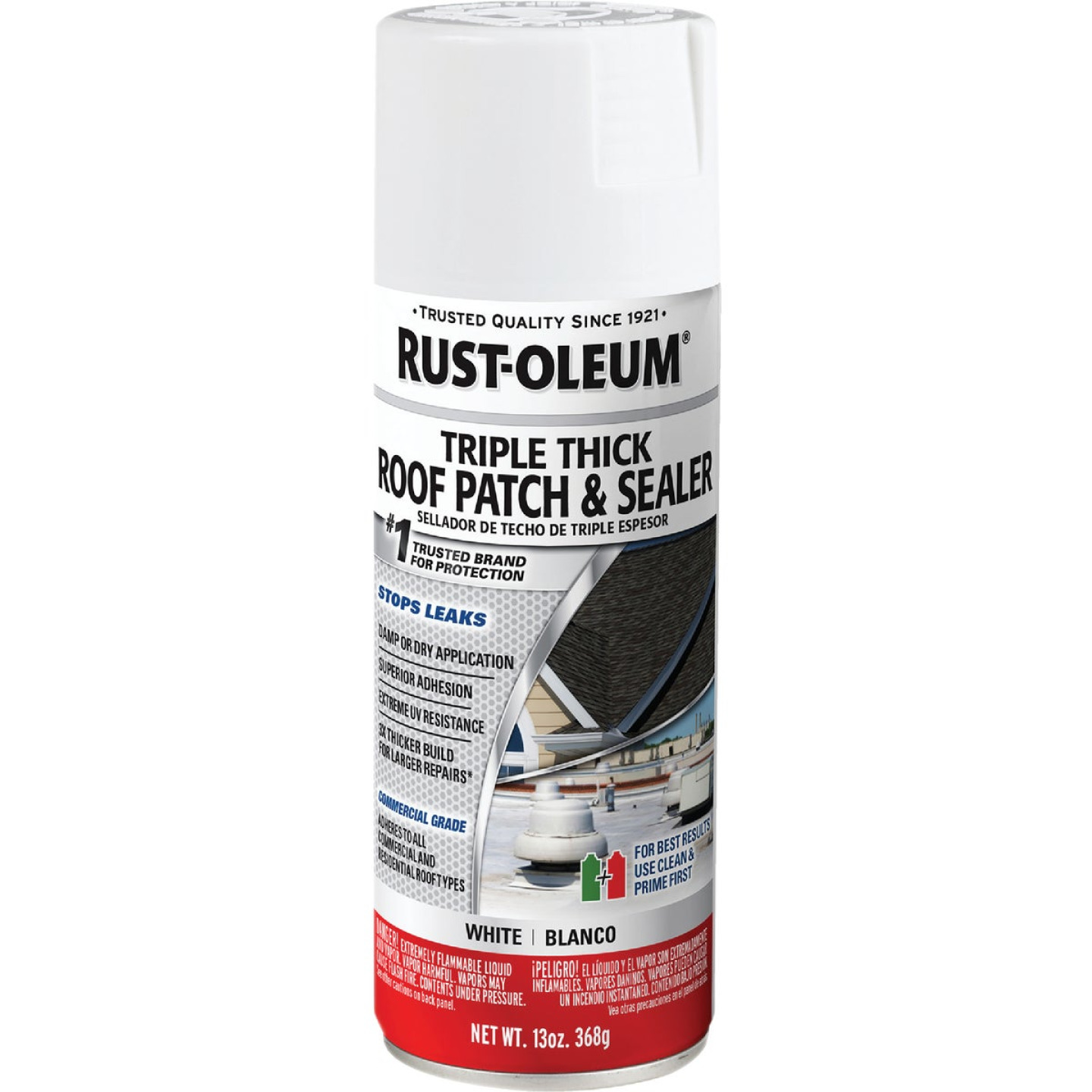 Rust-Oleum 13 Oz. Roofing Triple Thick Roof Patch & Sealer White Spray Image 1