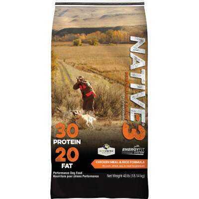 Kent Native Performance 40 Lb. Dry Dog Food, Energy Level 3