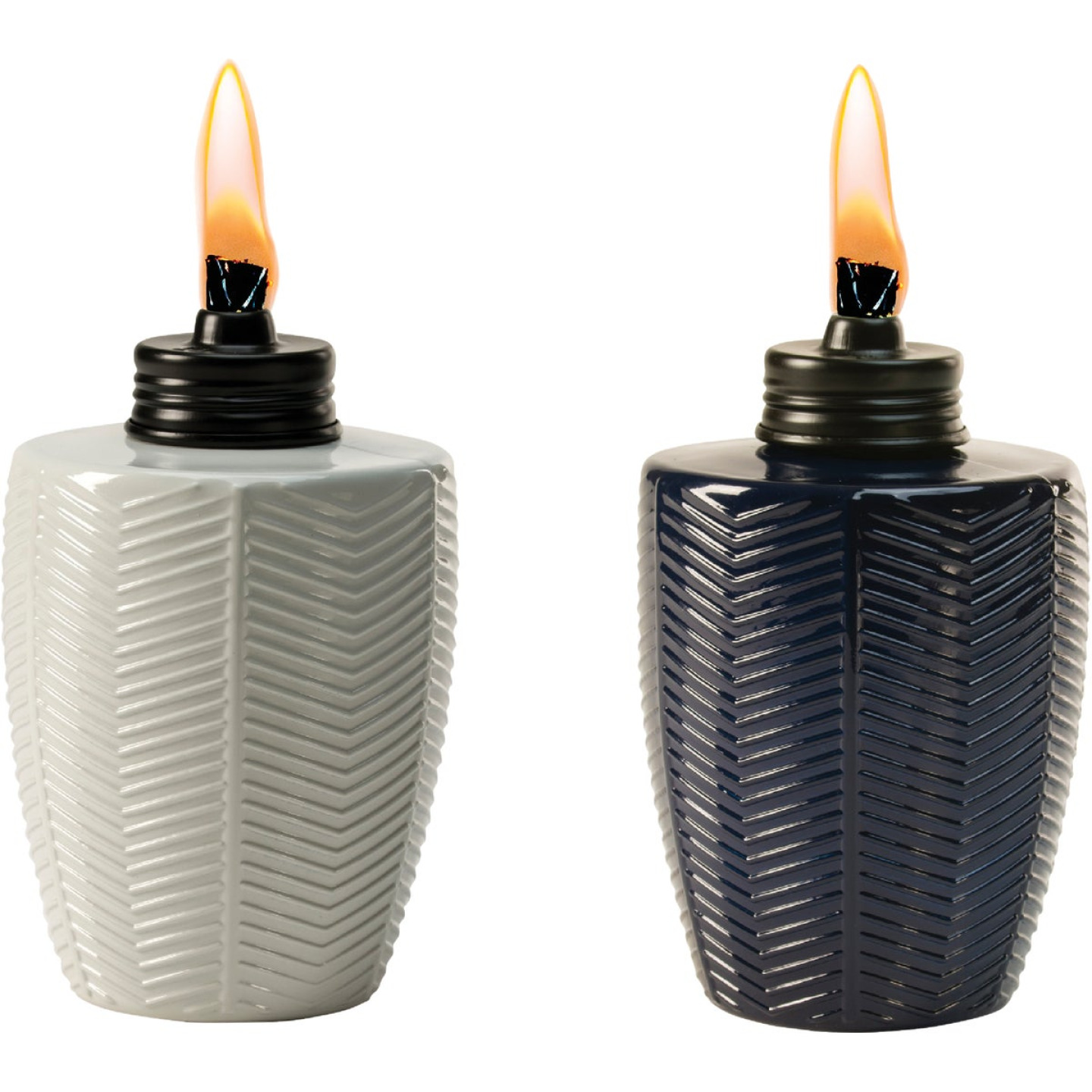 Tiki 5.75 In. Glass Herringbone Table Torch Image 1