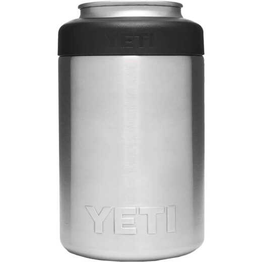 Yeti Rambler Colster 12 Oz. Silver Stainless Steel Insulated Drink Holder with Load-And-Lock Gasket