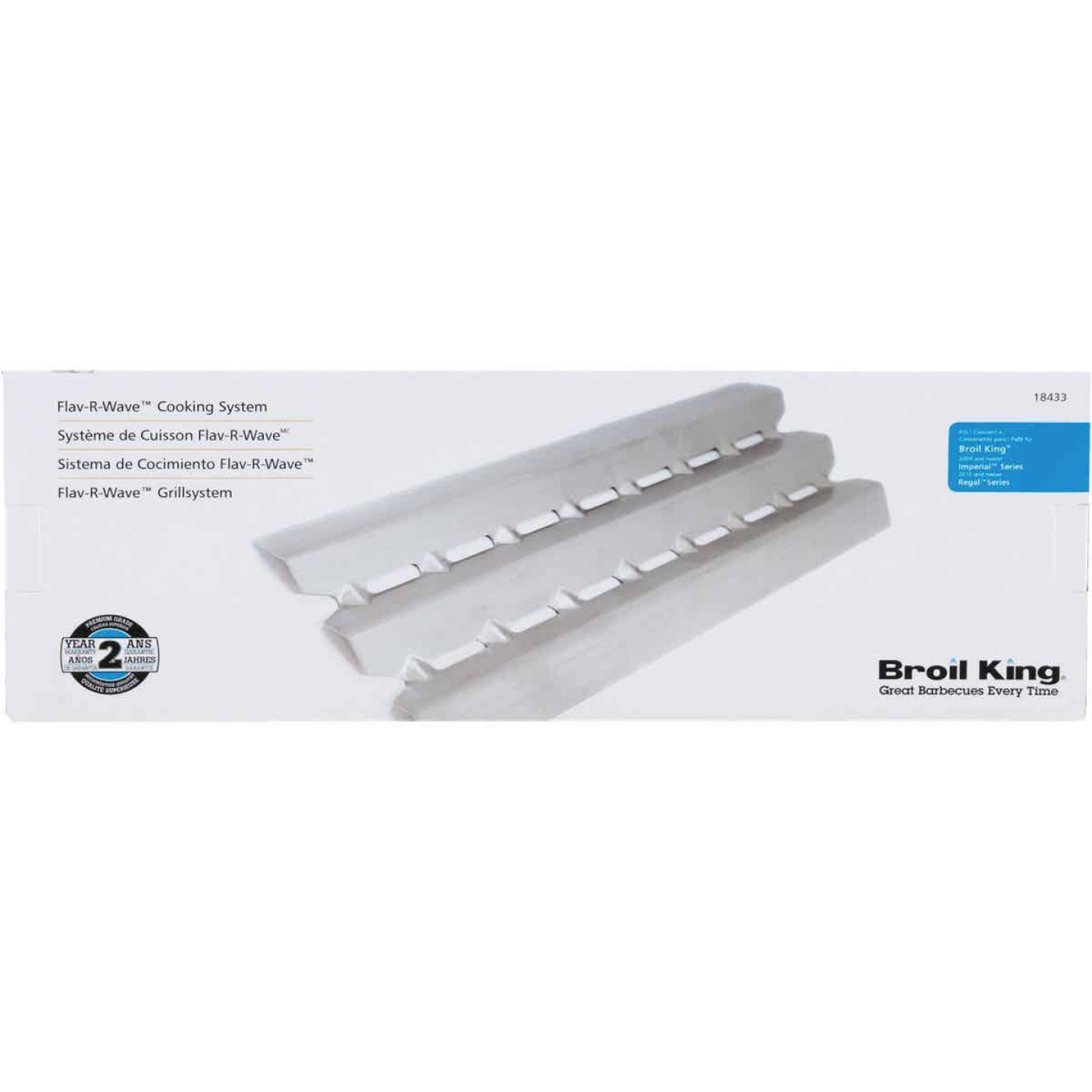 Broil King Regal/Imperial Flav-R-Wave 5.81 In. W. x 17.49 In. D. Stainless Steel Heat Plate Image 2