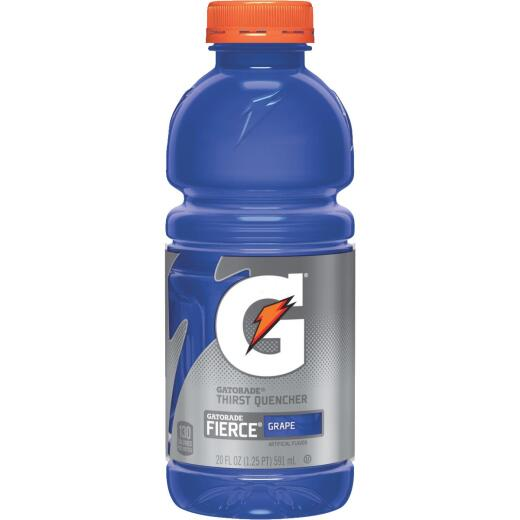 Gatorade 20 Oz. Fierce Grape Wide Mouth Thirst Quencher Drink (24-Pack)