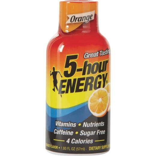 5 Hour Energy 1.93 Oz. Orange Flavor Energy Drink